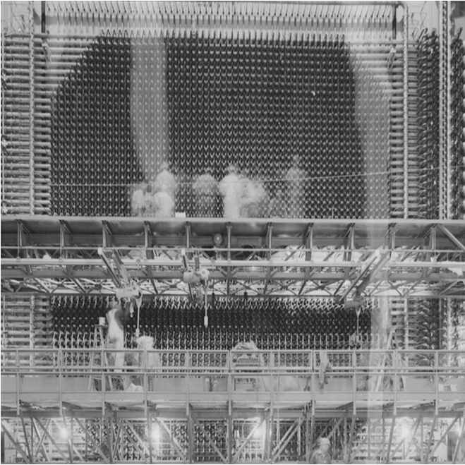 front face of b reactor square